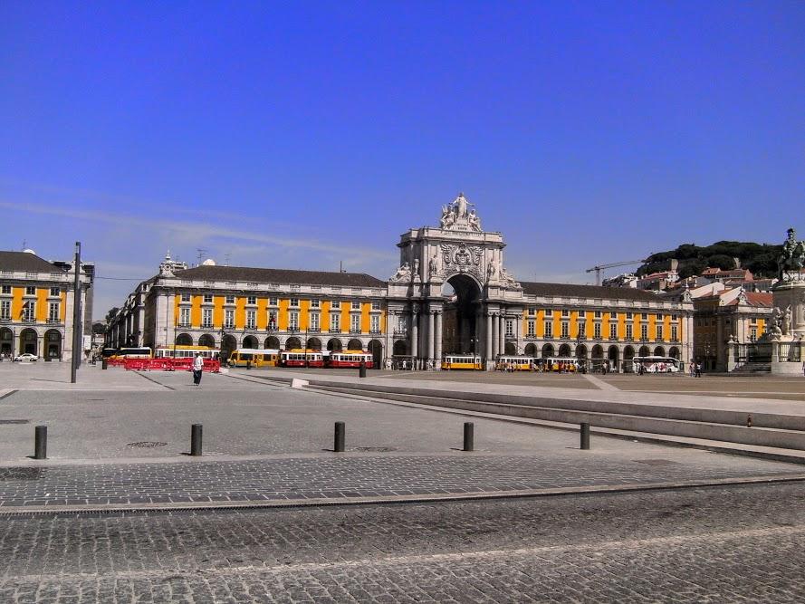 La place terreiro do paço à Lisbonne.