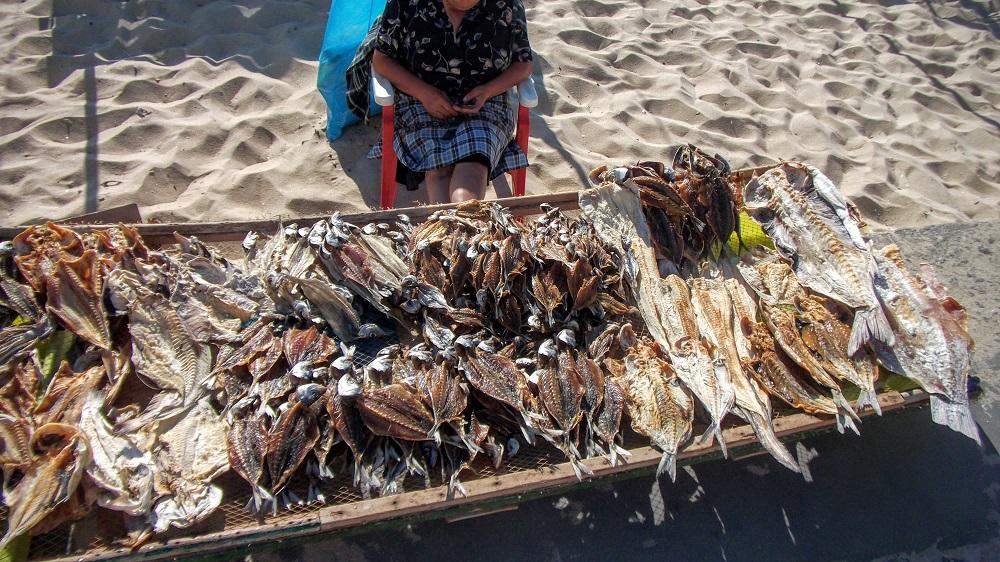 Les poissons séchés à Nazaré